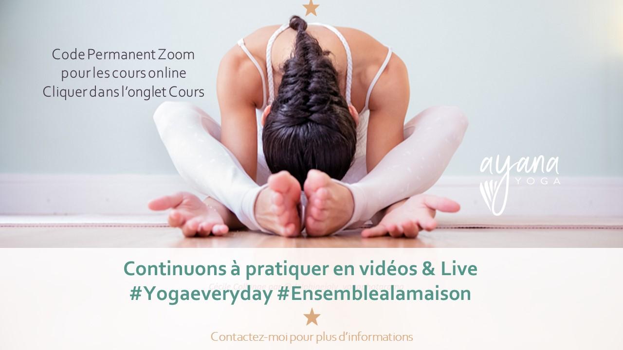 Cours de Yoga à distance